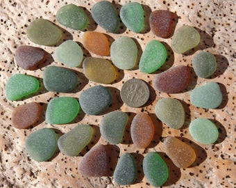 30 rich colourful Spanish sea glass pieces from the beaches of Andalucia (CE1129)
