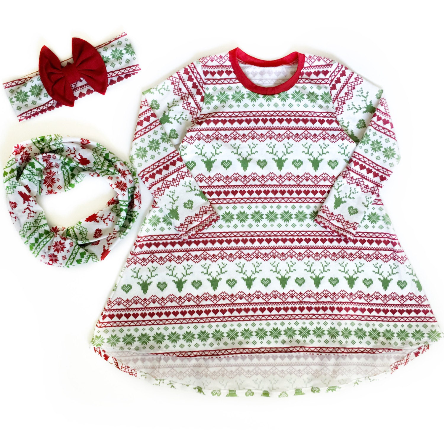 Christmas Dress baby girl dress toddler dress t shirt dress