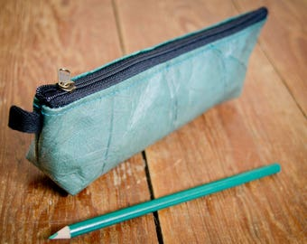 Molt laminated pouch from recycled sheets (aquamarine),