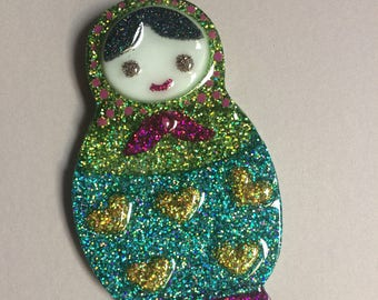 Russian Nesting Doll Brooch