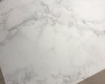 V018 Marble - Printed Vellum