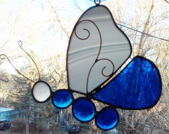 White and Blue Butterfly