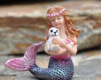 Mermaid, Seal for Miniature Garden, Fairy Garden