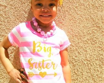 Big sister shirt. Promoted to big sister. sibling shirts. Big sister t shirt.