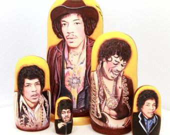 Nesting doll Jimi Hendrix