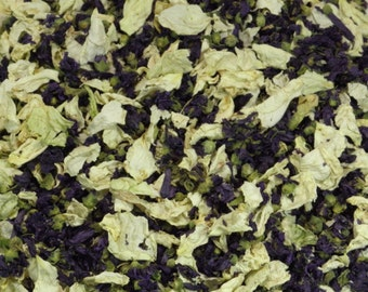 1L Blackberries and Cream - Blue/Purple Malva and Cream Rose Petal Confetti