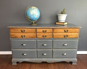 Stunning Two Tone Dresser - Sideboard Buffet - Entertainment Center