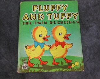 Fluffy and Tuffy, Tell-a-Tale Book 1947 Childrens Reading Book, Whitman Publishing