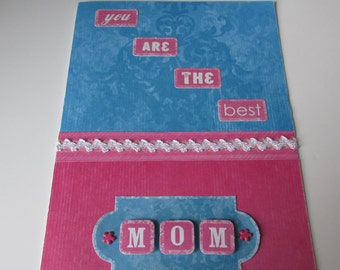 """Happy Mother's Day Card, """"You are the best MOM!"""" simple and elegant"""