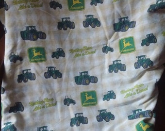 John Deere fitted bed sheet double full nothing runs like a Deere farming tractors farm cotton poly blend