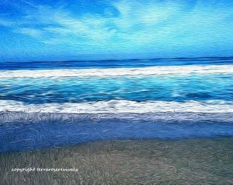 Ocean Blues-Stylized Oil Painting print-Limited Edition