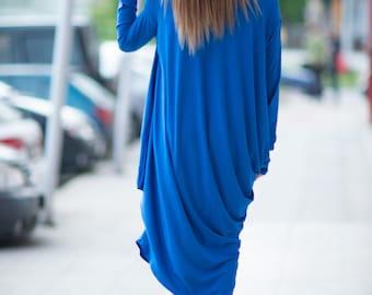 Womens loose dress, Asymmetric oversize dress, Long maxi tunic, Asymmetrical Long Dress design by EUGfashion