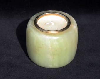 Retro Decorative Onyx Candle Holder 2.5 inches
