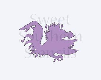 Sports Mascot Silhouette Cookie Stencil