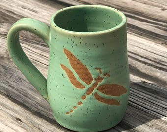 Quick ship: Mint green Dragonfly 16 oz