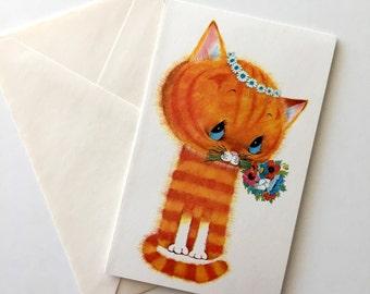 Vintage 1970s Kitten Birthday Card Unused Vintage Card Anthony Browne Birthday Card