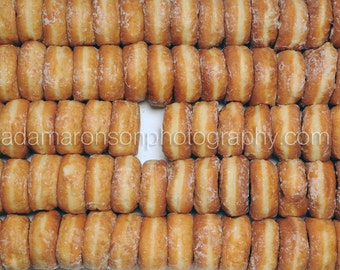 Photograph of donuts minus one