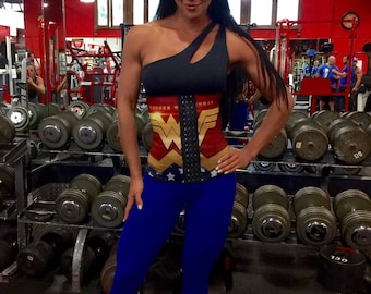 Wonder Woman Waist Trainer Waist Cincher  Womens Corset 3 long prong  hook torso waist trainer Colombian Faja  Sizes  , xsmall