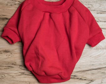 SALE PRICE - one size only - Dog / cat Jumper / Sweatshirt - Red -  Handmade pet clothes - Ideal for dogs,  puppies and cats