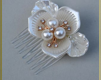 Small White Comb Pearls Comb Wedding Hair Comb Bridal Hair Comb Wedding Hair Piece Party Hair Comb Hair Jewelry Summer Hair Accessories