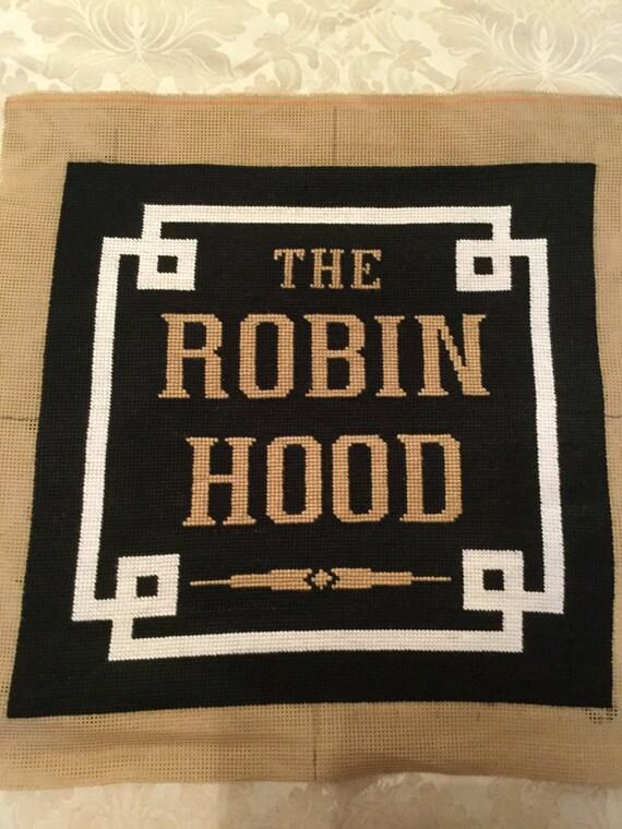 Robin Hood cushion, pillow, pub name, bar hotel name