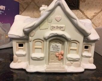 Enesco Precious Moments Porcelain Sugar Town Doctor's Office Night Light 529281