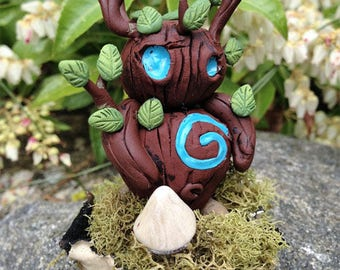 Woodling Forest Spirit Collectible Fantasy Art Sculpture Creature Figure