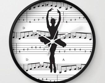 Kids Wall Clock - Ballet Dancer Wall Clock , Nursery Clock , Wooden Wall Clock , Kids Room Decor , Children Clock , Kid Clock