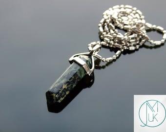 Rhyolite Crystal Point Pendant Natural Gemstone Necklace Chakra Reiki Healing Stone FREE UK SHIPPING