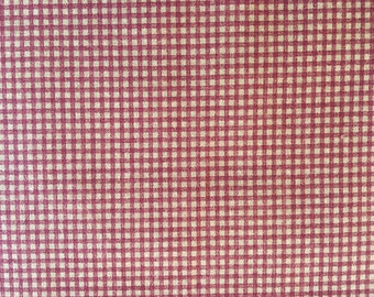 Country Red Check Fabric