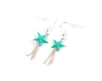 Star mints, origami, Origami earrings Japanese paper