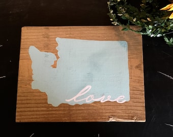 Choose Your State, Wooden State Sign, Wooden State Sign, Painted State Sign