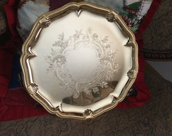 GOLDEN 49er SERIES     24K Gold Electroplated Tray   Made in USA