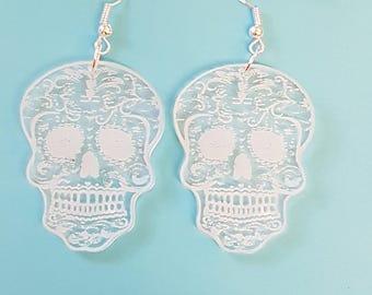 Sugar Skull Earrings - Acrylic