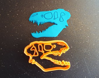 T-Rex Skull Cookie Cutter - 3D Printed - Bakery Cookie Cutter - Rex Cookie Cutter  Clay Cutter - Fondant Cutter - Cookie Cutter - FunOrders