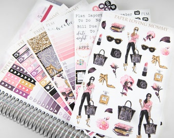 Girl Boss Weekly Kit | Foiled Stickers | Foiled Planner Stickers | Planner Stickers designed for use with the Erin Condren Life Planner