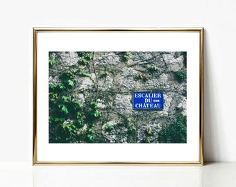 French Sign Decor Art, France Gallery Wall Prints, Europe Photography, Travel Decor, Apartment Art