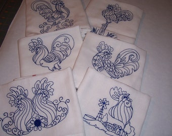 Kitchen Towels Hen and Roosters