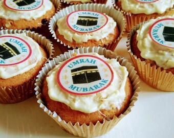 Umrah Mubarak Cupcake Toppers Umrah Mubarak Cake Umrah Cupcake Umrah Cake toppers Wholesale umrah decorations