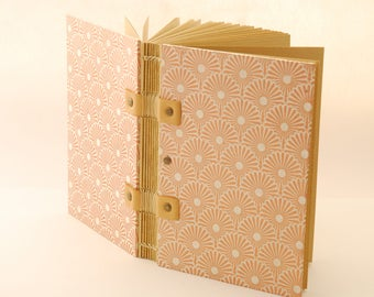 Book of very bright travel, format A6, Coptic binding, leaves quality kraft, pregnancy notebook, notebook