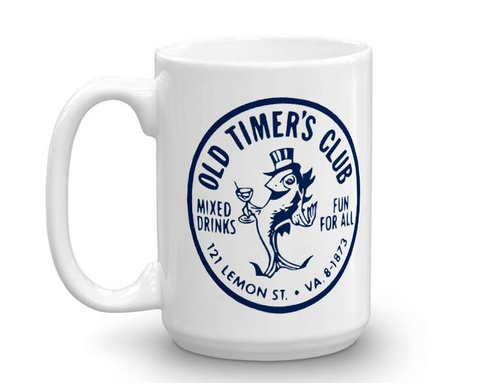 Old Timer's Club Vintage Matchbook Mug