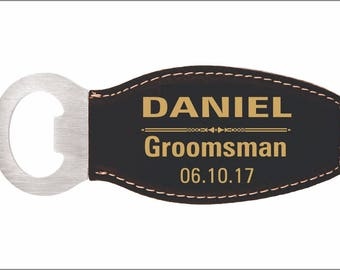 GROOMSMAN Custom Magnetic Bottle Opener, Personalized Wedding Favors, Thank You Gifts to Wedding Entourage,Gifts from the Couple, LBO001