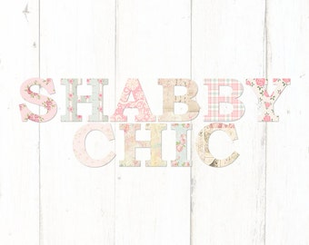 Shabby chic logo etsy for Design personalizzato