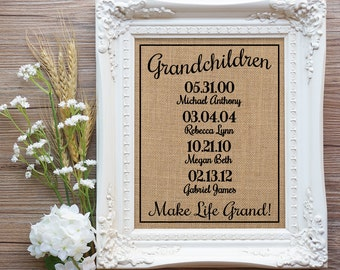 Mother's Day Gift for Grandma, Gift for grandparents, Grandma & Grandpa Gift, Grandma Birthday Gift, Mom Gift, Dad Gift, Gift Mom, Gift Dad