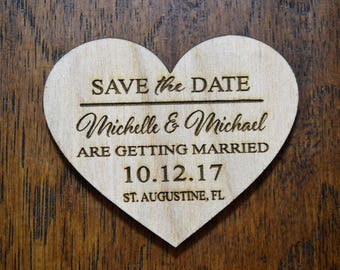 Sale Price! Save the date heart Magnets with envelopes, Save The Date, Wood Save The Date Magnet, Personalized Save The Date Magnet, Wedding