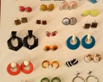 Vintage Earring Lot 22 Pairs