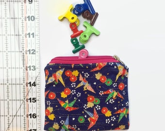 Wee Bites Water-Resistant Reuseable Snack/Accessory bag - Japanese cranes