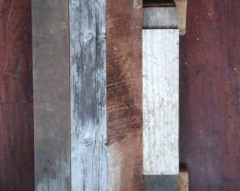 SAMPLE PACK.. Reclaimed barn wood wall face boards sample package..