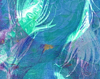 turquoise love print