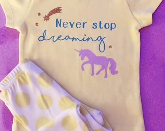 GIrl's Pajamas, Unicorn Pajamas, Girl's Sleepwear